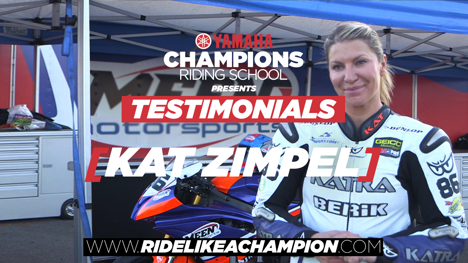 Kat Zimpel - Yamaha Champions Riding School Testimonial