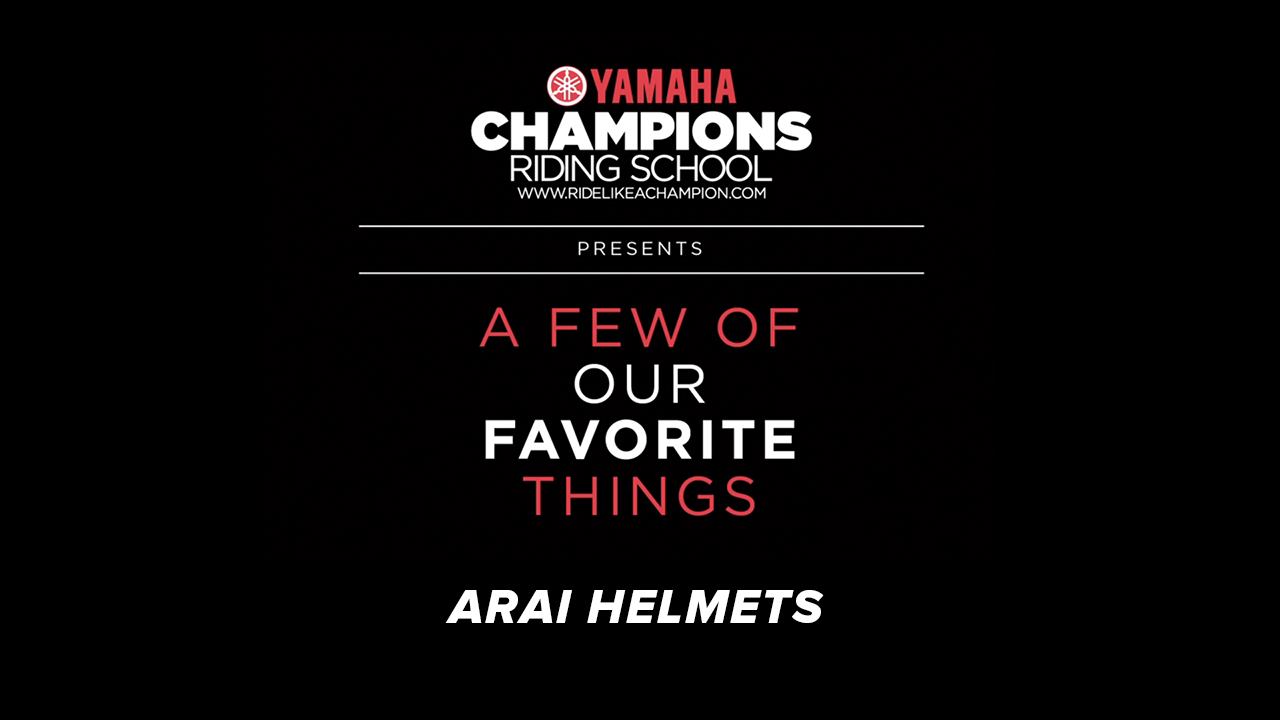 YCRS // A Few of Our Favorite Things // Arai Helmets