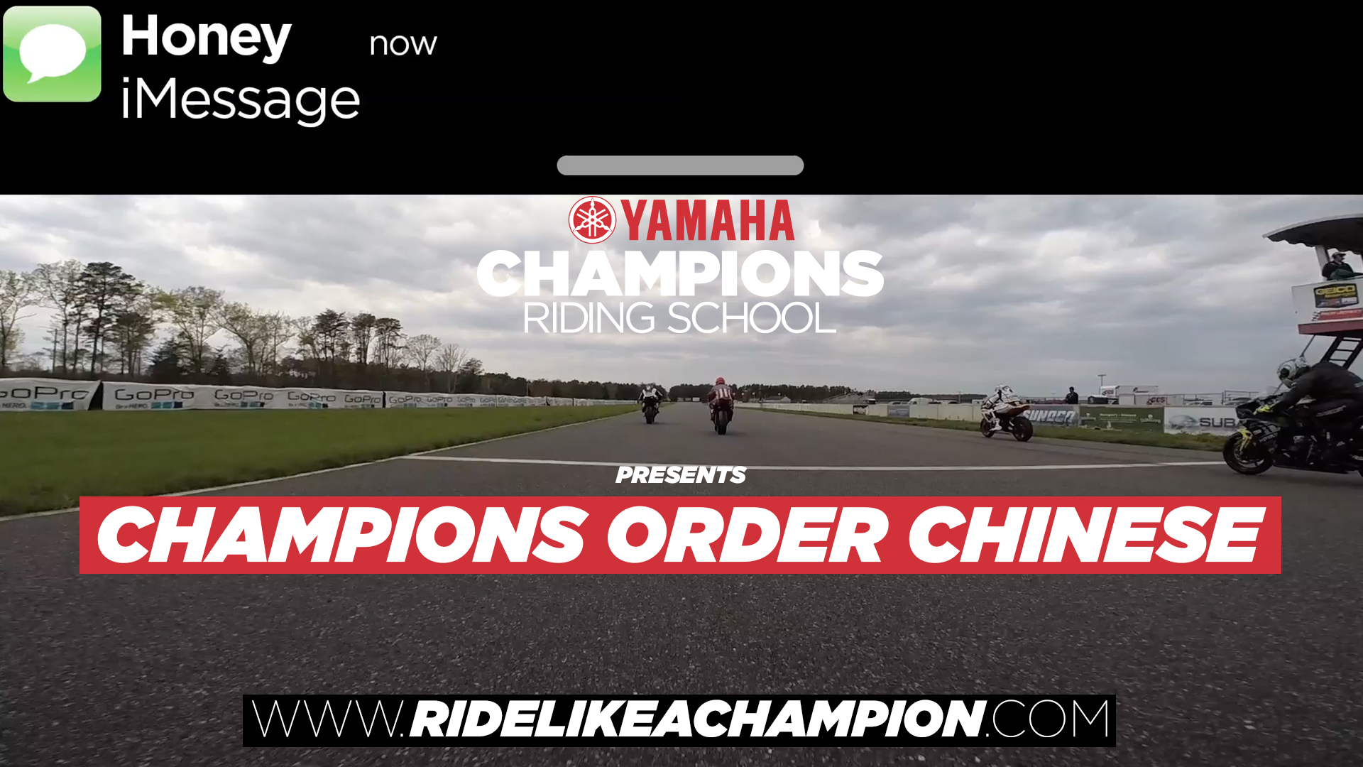 Champions order Chinese!